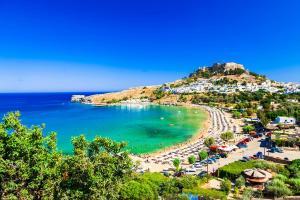 Rhodos Lindos Griechenland Strand