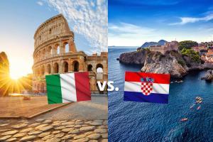 Italien vs. Kroatien Last Minute Urlaub an der Adria