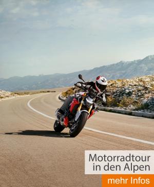 Motorradtour in den Alpen