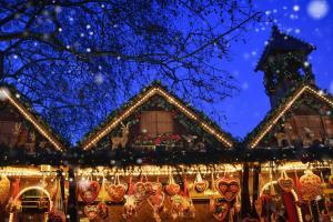 Weihnachtsmarkt in der Nacht HOFER REISEN
